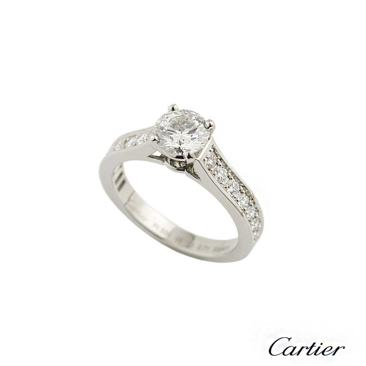 Cartier 1895 Diamond Ring in Platinum 0.71ct F/VS1 H4201347